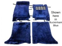 Set of 4 Sheepskin Over Rugs - Rolls Royce Silver Spirit From 1987 To 1998